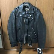 Schott One Star Double Riders Jacket Coat Black Menand039s 34 Rare Tag From Japan New