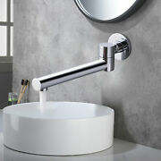 Bathtub Faucet Brass Glossy Wall Mount Bath Faucet 180° Rotation Tap New Arrival