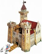 3d Puzzle Construction Kit Cardboard Model-medieval Town Knight's Castle Toy207