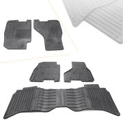 Rubber Weatherbeater Front Rear Car Floor Mats Fit 2009-2017 Dodge Ram Crew Cabs