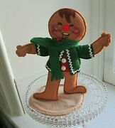 Vintage Annalee Christmas Gingerbread Boy 1992 9 Inches High