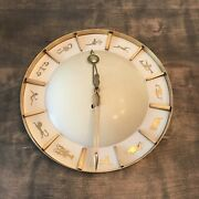 Zodiac Brass Wall Clock Junghans Mid-century Modern 1950´s One Of A Kind Rare