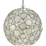 Crystorama 529-sa Palla 6 Light 22 Inch Antique Silver Chandelier Ceiling Light