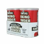 Rumford Aluminum Free Baking Powder 8 Oz Can 2 Pack Fast Free Shipping