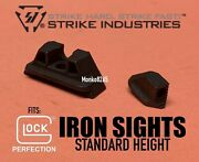Strike Industries Iron Sights Standard Height For Glock 17 19 22 23