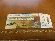 2010 Afc Divisional Playoff Football Ticket Pittsburgh Steelers Baltimore Ravens