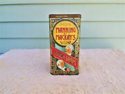 Vintage Large Manning And Mackay's Lidded Cough Drop Tin Made In England