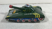 Vintage Chinese Tin Toy Light Tank Mf 721 Friction Drive. Works