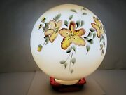 Vintage Large Gone With The Wind Gwtw Yellow Floral Lamp Shade Globe Banquet