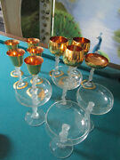 Bayel France Frosted Nude Woman Goblets - 4 Cordials - Champagne - Pick 1 Set