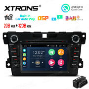 Obd+ 7 Car Dvd Stereo Radio Android 10 Gps Car Auto Play For Mazda Cx-7 2007-12
