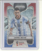 Lionel Messi Card 2018 Panini Prizm World Cup Red White Blue Wave Tricolor Nm