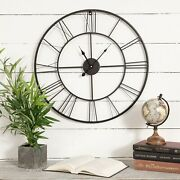 24and039and039 Antique Round Metal Wall Clock That Looks Antique And Amazing On Your Porch