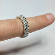 5.26 Ct Oval Cut Diamond Engagement Eternity Band 14k White Gold Size L M N O P