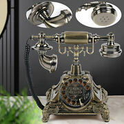 Antique Vintage Phone Rotary Dial Retro Old Fashioned Landline Telephone Home