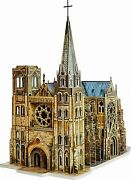 3dpuzzle Construction Kit Cardboard Model-medieval Town Gothic Cathedral Toy255