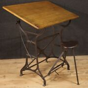 Technical Drawing Table Vintage Furniture Design Cast Iron Reclining Wood 900