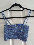 Urban Outfitters Out From Under Womens Crop Top Blue New Size L Free Uk Postage