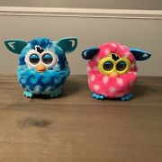 Furby 2012 Pink Polka Dot And Blue By Hasbro - Tested/working Lot Of 2