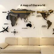 Solid Acrylic Wall Sticker World Map Decals For Living Room 3d Wall Decals Sofa