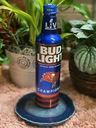 Tampa Bay Buccaneers Super Bowl Champions Bud Light Beer Bottle -not In Stores