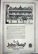 Antique Print Ref.927 1923 Advertisement John Haig Clubmanand039s Scotch Whisky