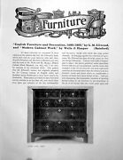Antique Old Print Furniture English Modern Decoration 1680-1800pages 1910
