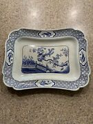Vintage Porcelain Platter By Norfolk Pottery Stoke For Lawleys 15 Inches Long