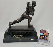 Andre Ware Signed Replica Heisman Trophy Houston Cougars Jsa Hh23538