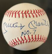 Mickey Mantle No. 7 Signed Autographed Inscribed Al Ball