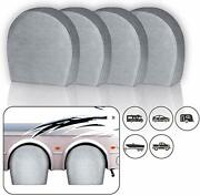 Tire Covers Rv Wheel Set Of 4extra Thick 5-ply Motorhome Wheel Covers Waterproof