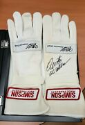 Vintage Rusty Wallace Autographed Race Worn Simpson Racing Gloves