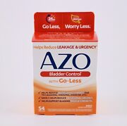 Azo Bladder Control With Go-less Helps Reduce Occasional Urgency 54 Ct