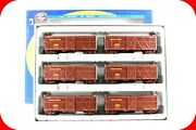Ho Scale Up Union Pacific Brown 40and039 Stock Cattle Car 6-pack Set -- Athearn 73223