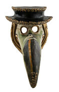Mask From Venice Doctor Of The Plague Medics With Hat Paper Mache 22607 Cb1