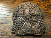 1970 Houston Livestock Show And Rodeo Exhibitor Badge Collectible