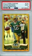 2013 Topps Chrome Aaron Rodgers Gold Refractor 13/50 Psa 9 Pop 2 150 Green Bay
