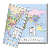 Us And World Desk Map 30-map Pack 13 X 18 Laminated Lighthouse Geographics