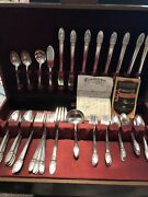 1847 Roger Bros 50 Piece - First Love Silverware Silver Plate Set In Box
