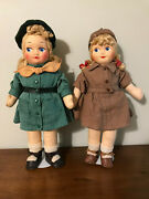 Vintage Georgene Girl Scout And Brownie Scout Georgene Novelties Co. Late 1940s