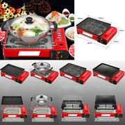 Portable Bbq Grill Gas Stove Stainless Steel Outdoor Indoor Home Picnic Hotpot