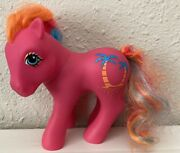 Vintage 1987 My Little Pony Mlp G1 1980and039s Tropical Ponies Pina Colada Palm Trees