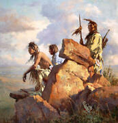 Howard Terpning Among The Spirits Of The Long-ago People Gc Canvas 2/200 Mint