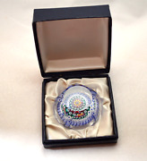 Whitefriars Rare Miniature Millefiori Crystal Art Glass Paperweight Boxed 1972