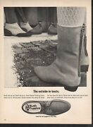 Vintage Advertising Print Ad Fashion Shoes Hush Puppies Outside In Boots Zipper
