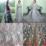 Flower Embroidery Fabric Floral Pattern Wedding Bridal Decoration Supply