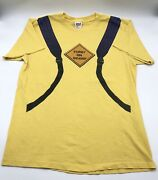 """Vintage 1999 Furby """"furby On Board"""" All Over Print Toy Promo T Shirt Yellow L"""
