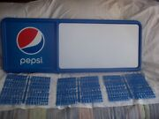 3ft Pepsi-cola Menu Board Sign W/3 Sets Of Letters And Numbers