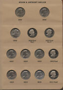 Susan B Anthony Dollar 1979 - 1981 Coin Set Collection And 7180 Dansco Album At56
