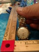 Vintage Elgin Deluxe Shock Master Menand039s Wristwatch 17 Jewels 10kt Does Not Work